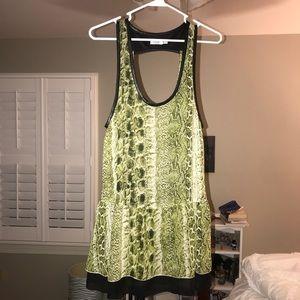 snakeskin dress